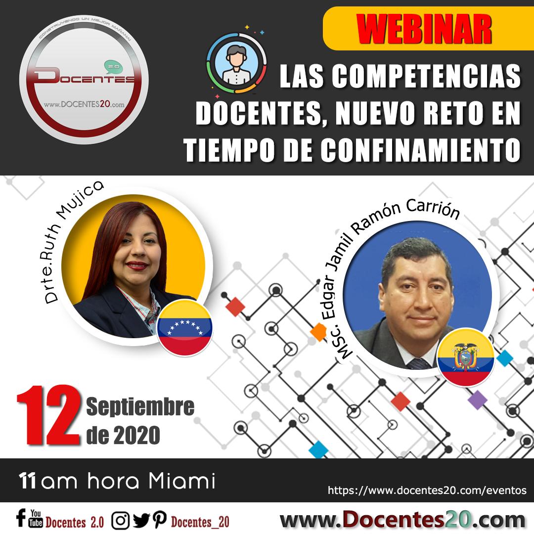 """WEBINAR: """"LAS COMPETENCIAS DOCENTES, NUEVO RETO EN TIEMPO DE CONFINAMIENTO"""""""