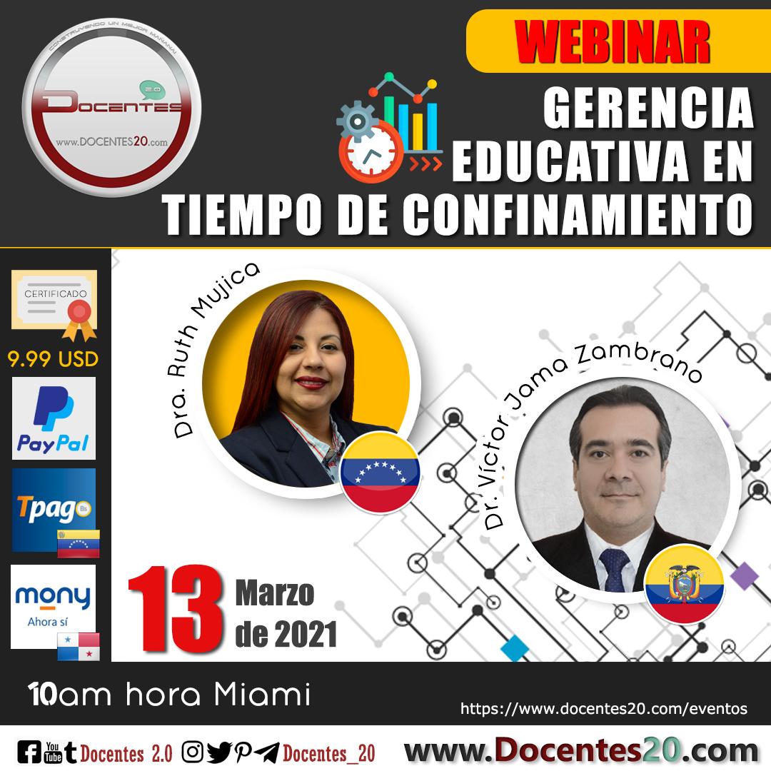 WEBINAR: GERENCIA EDUCATIVA EN TIEMPO DE CONFINAMIENTO