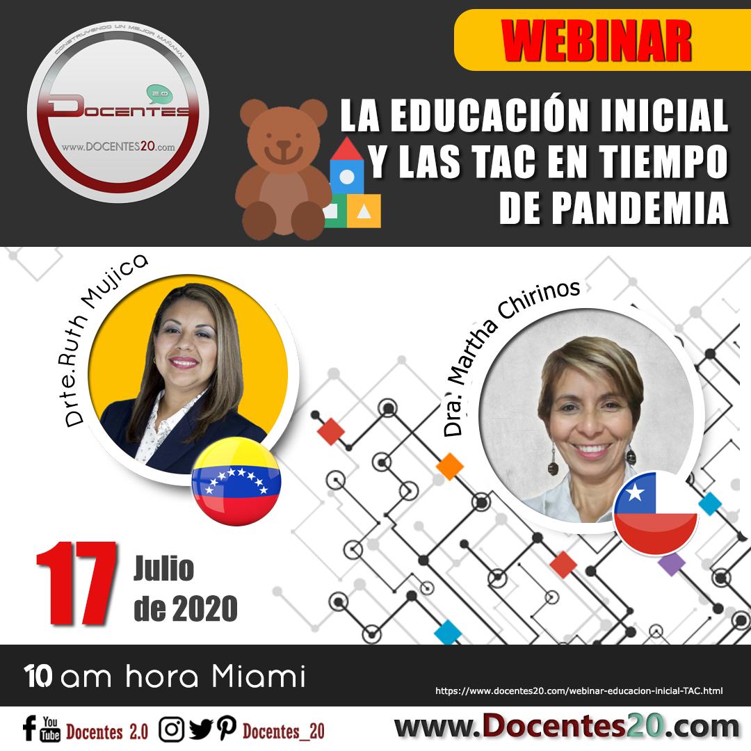 WEBINAR: LA EDUCACIÓN INICIAL Y LAS TAC EN TIEMPO DE PANDEMIA